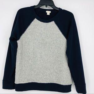 J. Crew Blue & Grey Sweatshirt Size Small